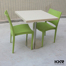 Commercial used solid surface long bar table
