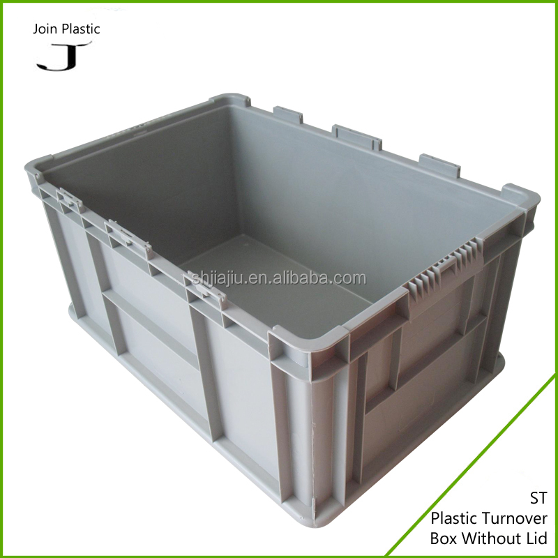 large plastic stackable plastic crate,stackabke pp box crate and clothes crate