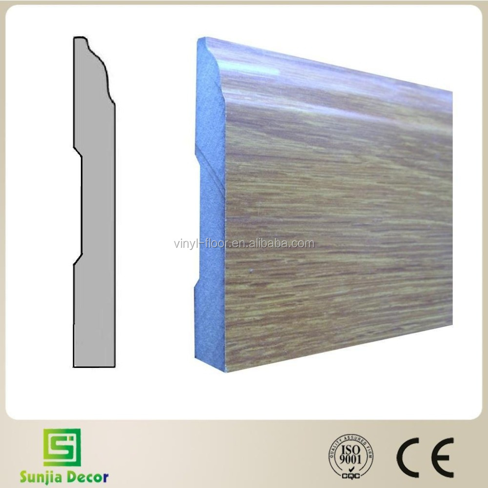 HOT Pressed HDF baseboard molding