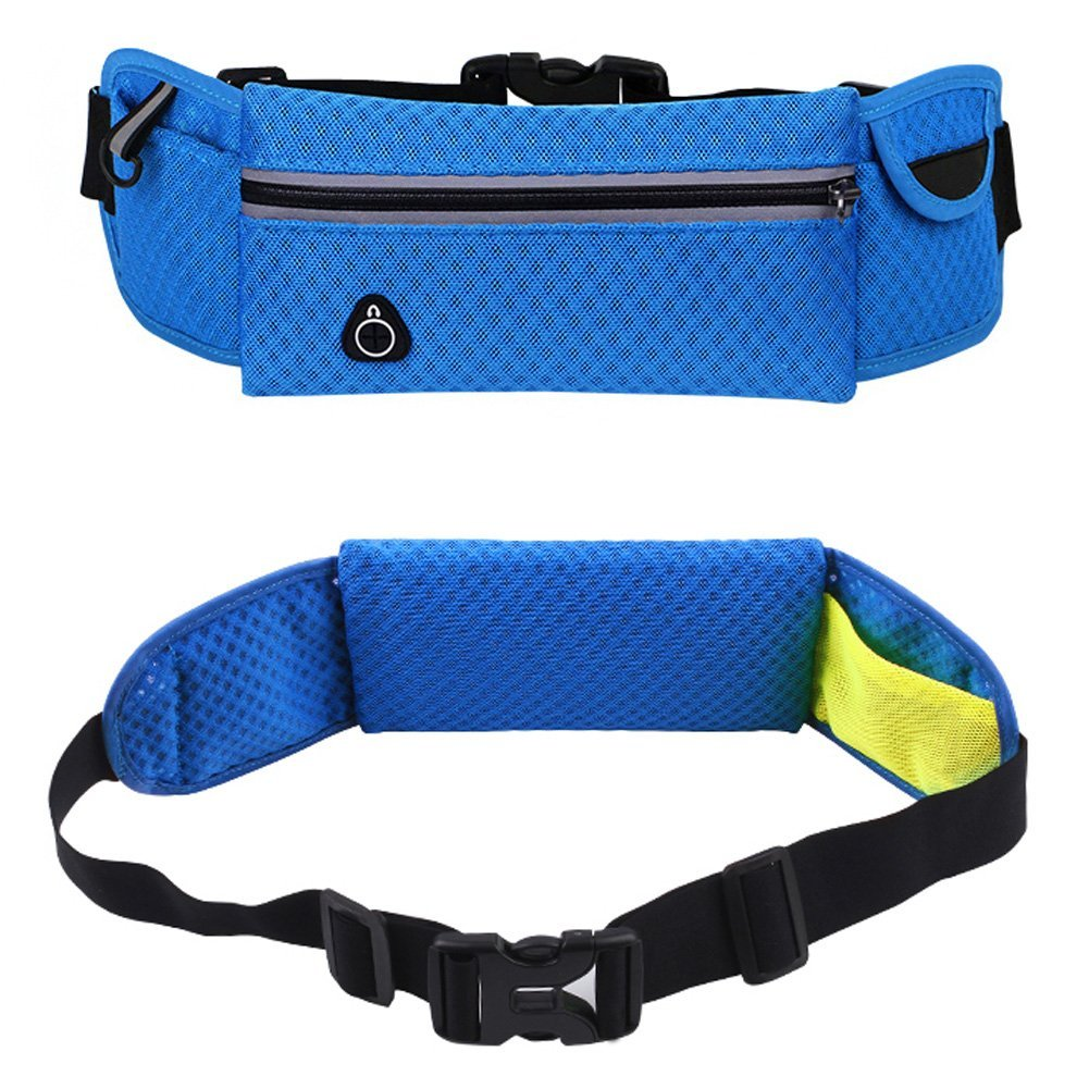 Runner Waist Pack Running Belt Sports Phone Bag, Ulifestyles Outdoor Products for Women Men Running Hiking Fishing Shopping Travel, Large Waist Pack, Universal Adjustable Size, Comfortable, Fashion