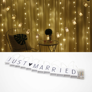 Battery Powered Operated Fariy Letter String Lights for Parties