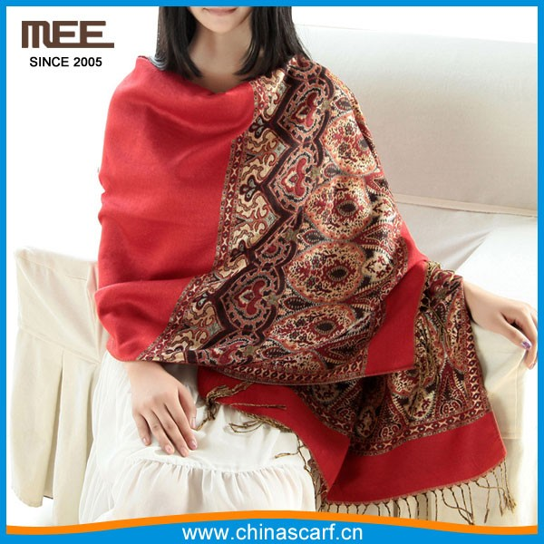 2016 wholesale pashmina shawl nepal with tassel