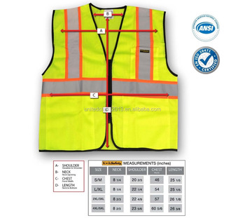 Safety Class 2 Vest High Visibility Reflective Vests With Three 3