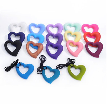 Heart Shaped Silicone Teether BPA Free Baby Nursing Gift Teething Toys