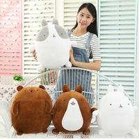 1pcs 25cm super cute rabbit molang potatoes bear plush toy doll, female valentines day gifts molang rabbit plush toy teddy bear