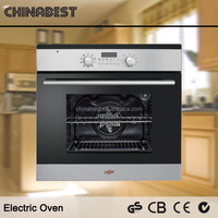 59L VFD Display Stainless Steel Panel Double Glass Built in Toaster Electric Oven for Kitchen Use