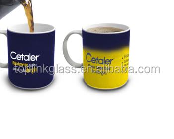 ceramic tea cup heat sensitive color changing temperature change
