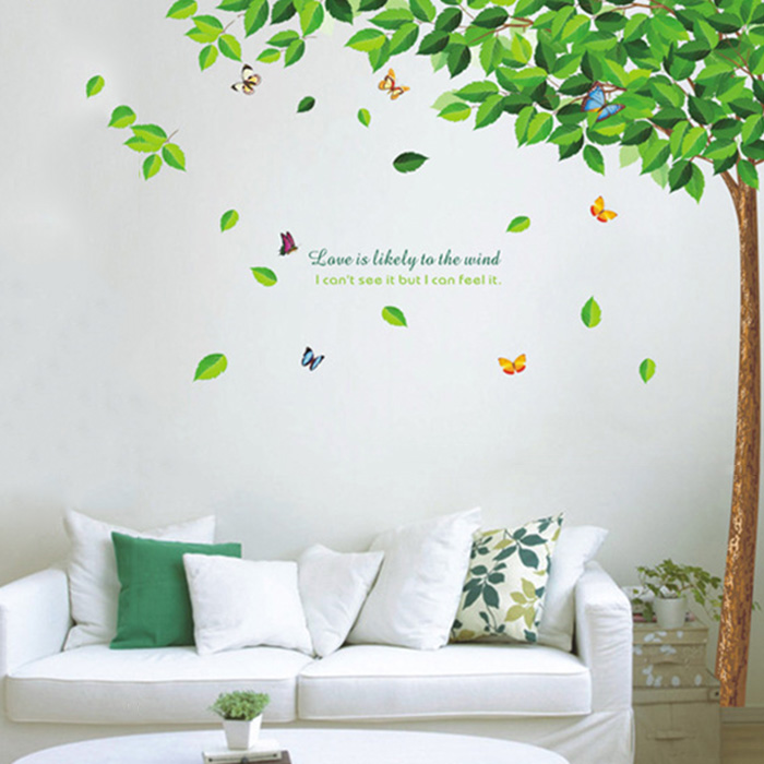 Best Selling Green Tree Wall Decals Living Room Bedroom ...