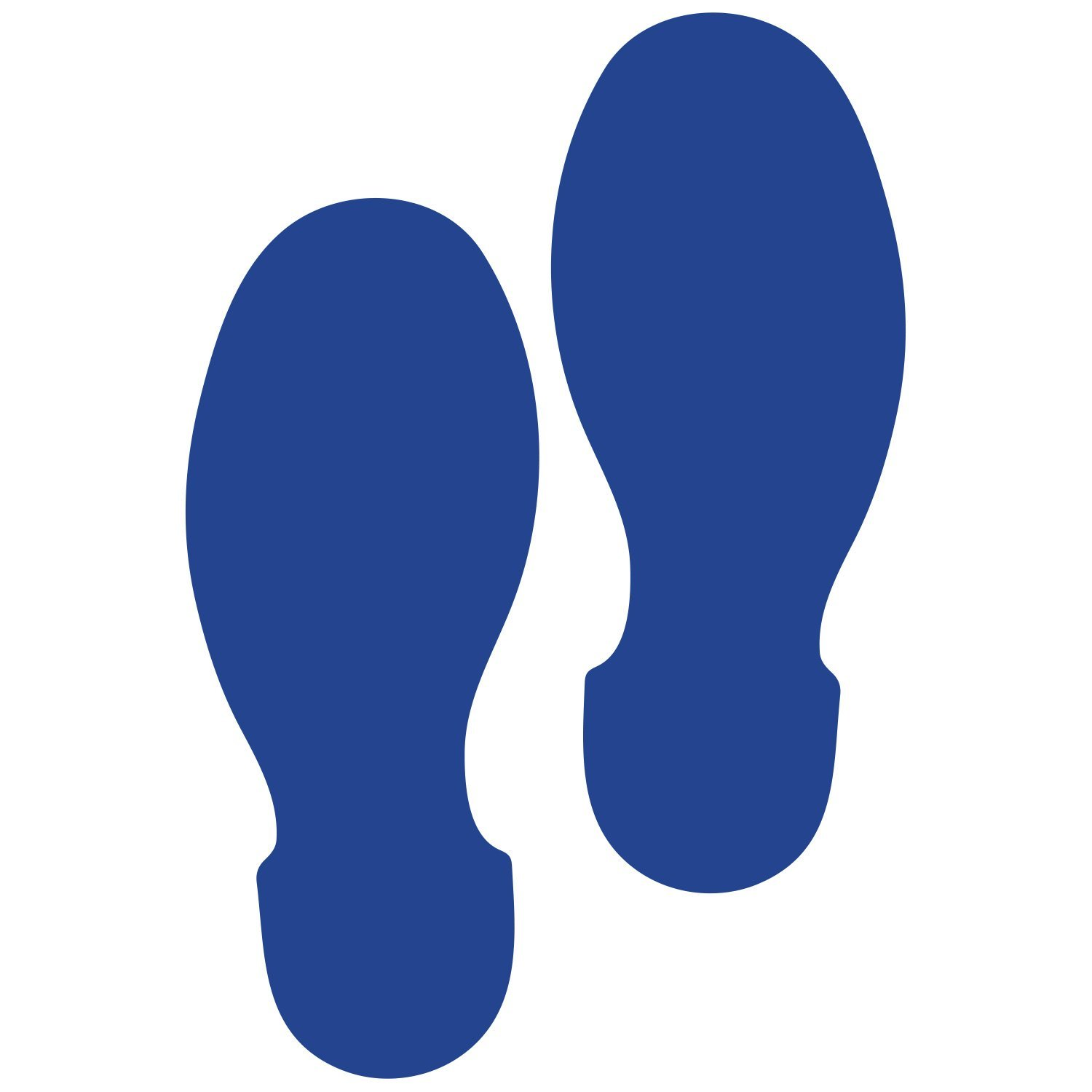 LiteMark 9 Inch Blue Shoe Print Decal Stickers for Floors and Walls - Pack of 12