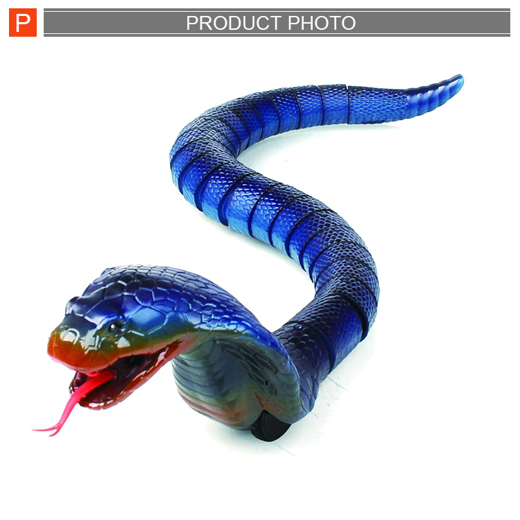 New funny R/C plastic animal snake set toy with battery charger infrared