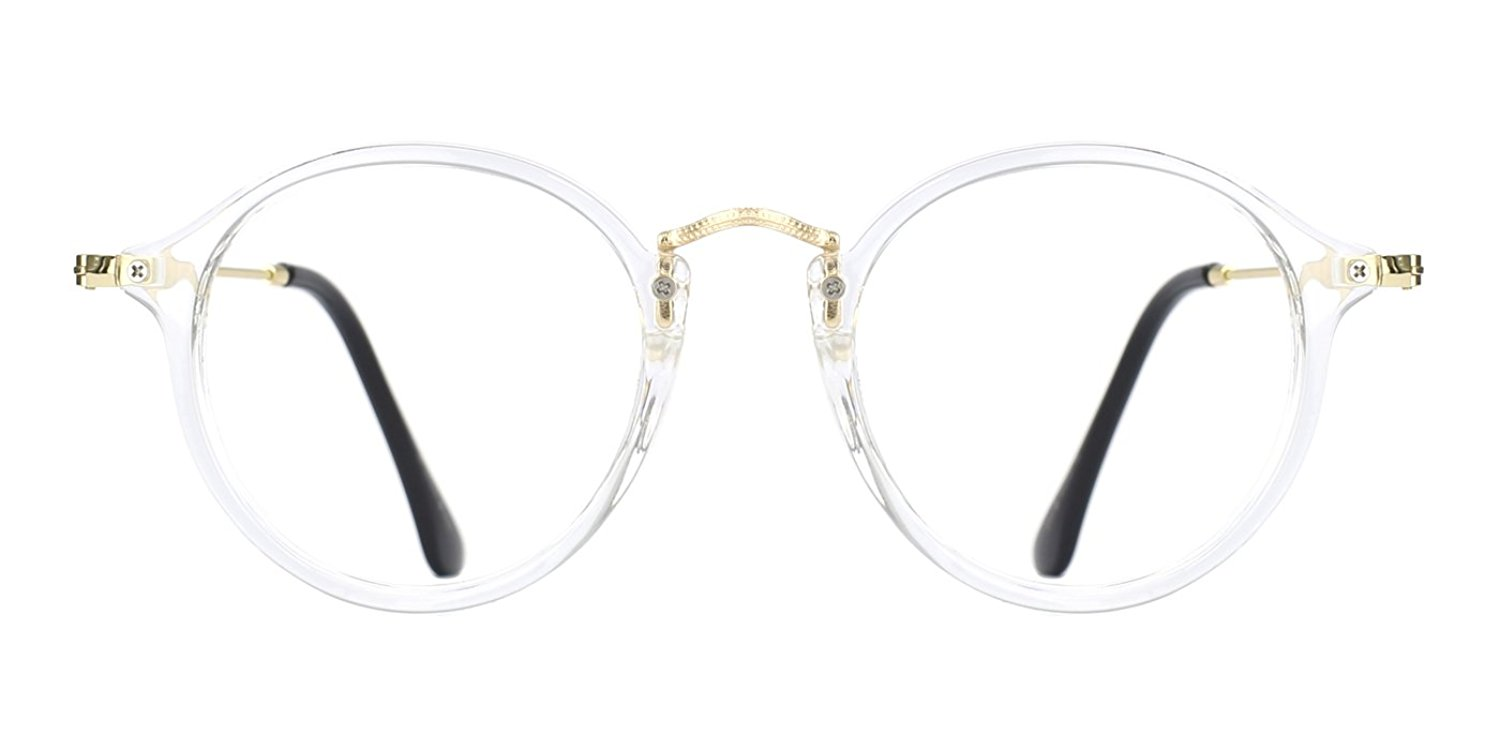 1992f18a793 Get Quotations · TIJN Women Vintage Round Non-Prescription Eyewear Frame  Stylish Eyeglasses