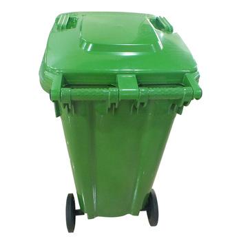 Park Plaza Verwendet Plastikmulleimer Abfallbehalter Mullcontainer