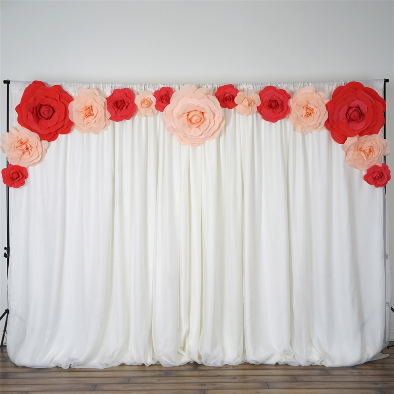 Romantic Foam Paper Flower Wall Backdrop For Wedding Decoration