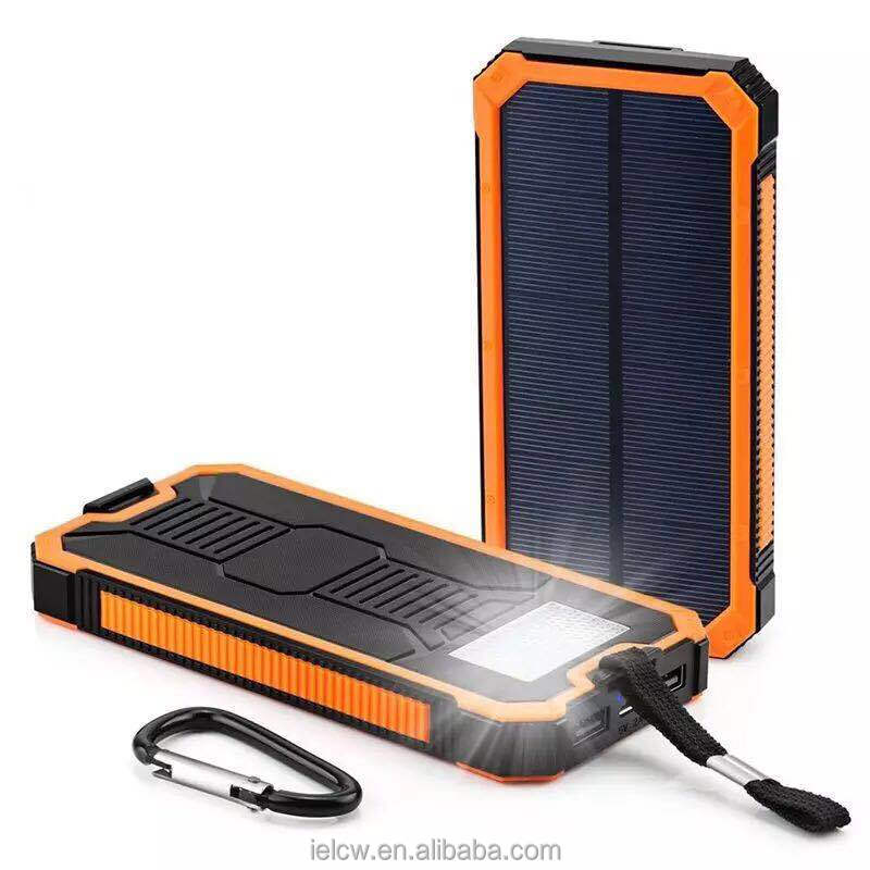 12000mAh Solar Power Bank For Smartphone 10000mAh Battery Solar Charger Secure Mobile Power Supply
