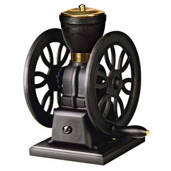 Small Manual Coffee Bean Grinder With Double Flywheels