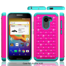 For Alcatel A30 Fierce Case , Carry By T mobile Hot Selling Diamond Phone Case For Alcatel REVVL