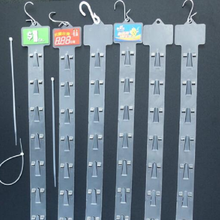 retial plastic hanging display clip strips for supermarket hang strip clip for retail  PP supermarket hanger for plastic display