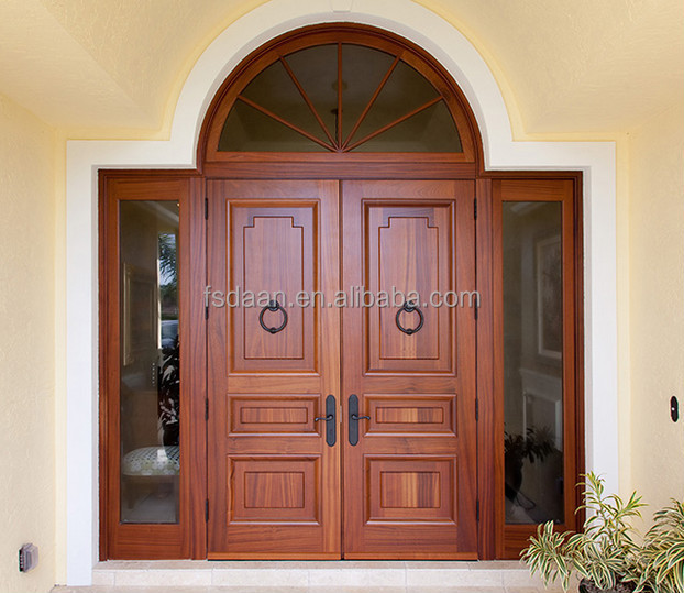 Antique exterior double kerala doors design in foshan for Entry double door designs