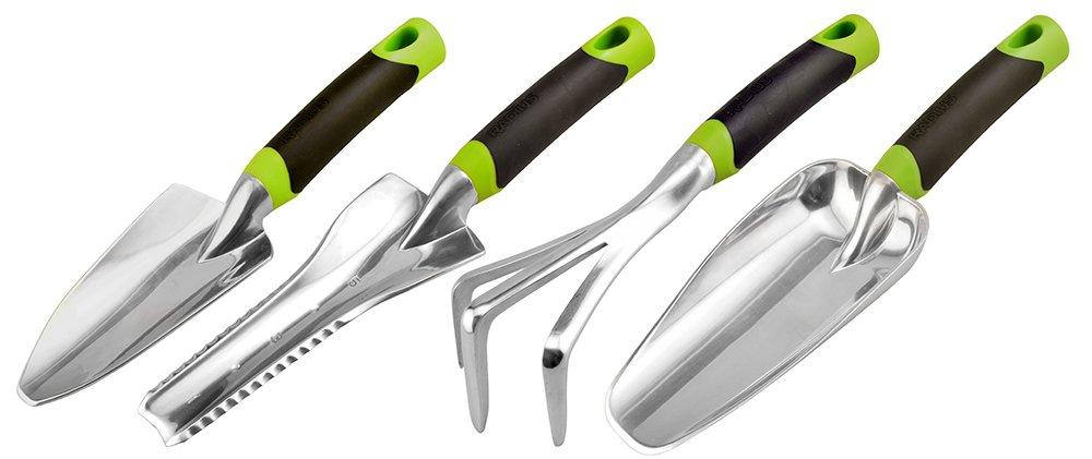 Radius Garden 31502 DIG 4-Piece Gardening Hand Tool Set -Green