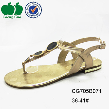 db5f3cb40b74f Mystique Stone Women Gold Custom Made Sandals - Buy Custom Made  Sandals