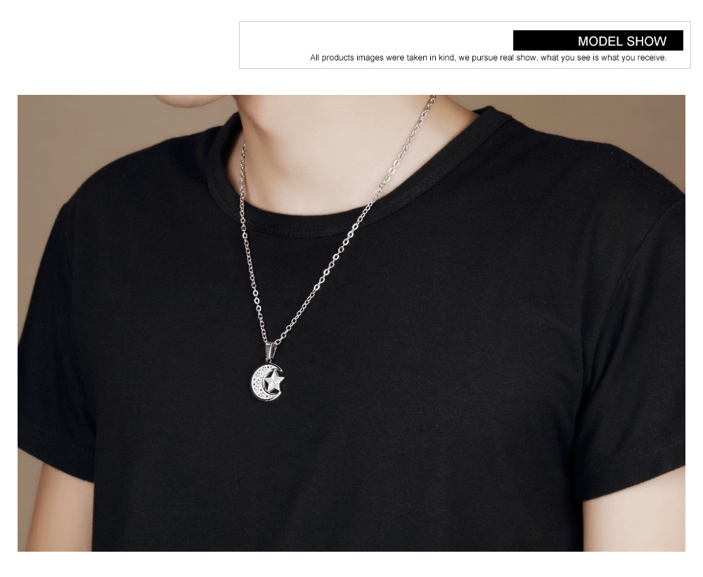 Fashion New Design Stainless Steel Men Jewelry Moon Phase Pendant