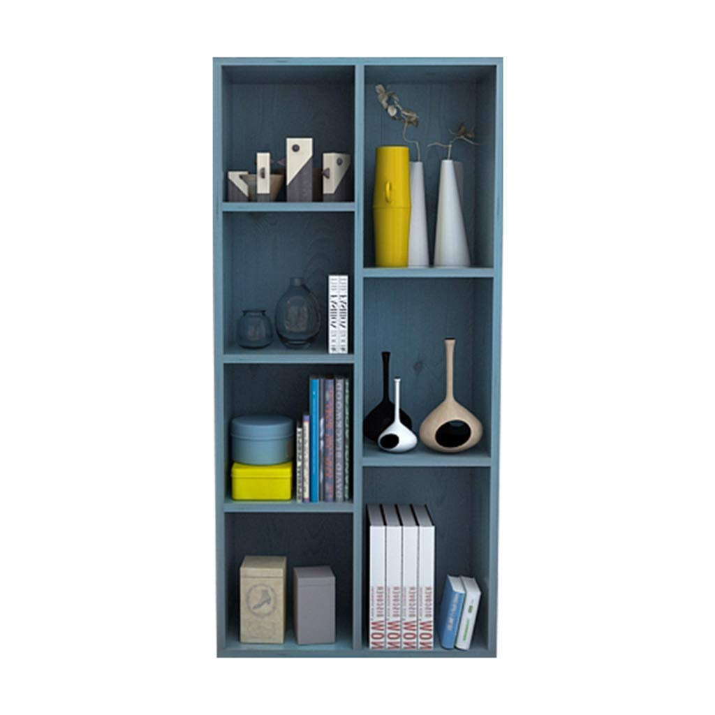 Xing Hua Shop Bookshelf Locker Home Bookcase Bedroom Locker Living Room Storage Cabinet Free Combination Grid can be Placed Horizontally (Color : Blue, Size : 5024106cm)