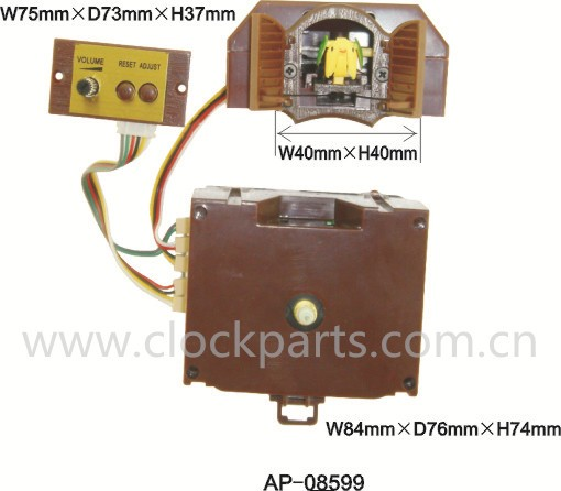 high quality quartz cuckoo clock movement mechinism with