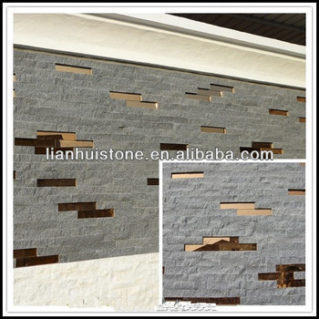 G654 Natural Black Granite Wall Stone Cladding Designs For