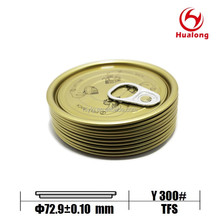 73mm 300# round pull ring can lid TFS easy open end