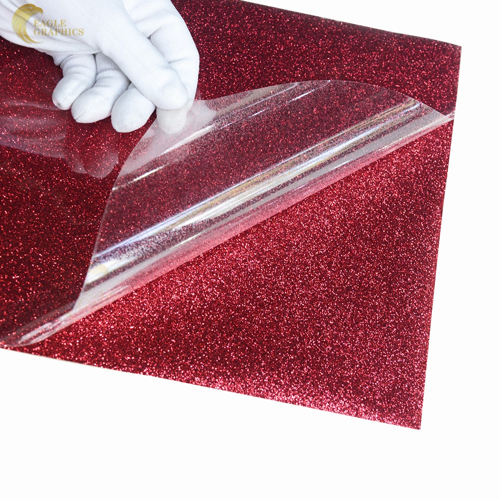 High quality Eagle heat transfer <strong>glitter</strong> <strong>vinyl</strong> 25*155cM