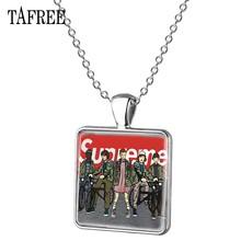 Мужские и женские ожерелья-чокер TAFREE, ожерелье с подвесками в виде странных вещей, с серебряным покрытием, ювелирные изделия, QF115(Китай)