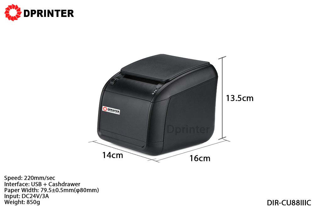 Dprinter 80mm USB Thermal Receipt Printer POS Printer with Auto Cutter