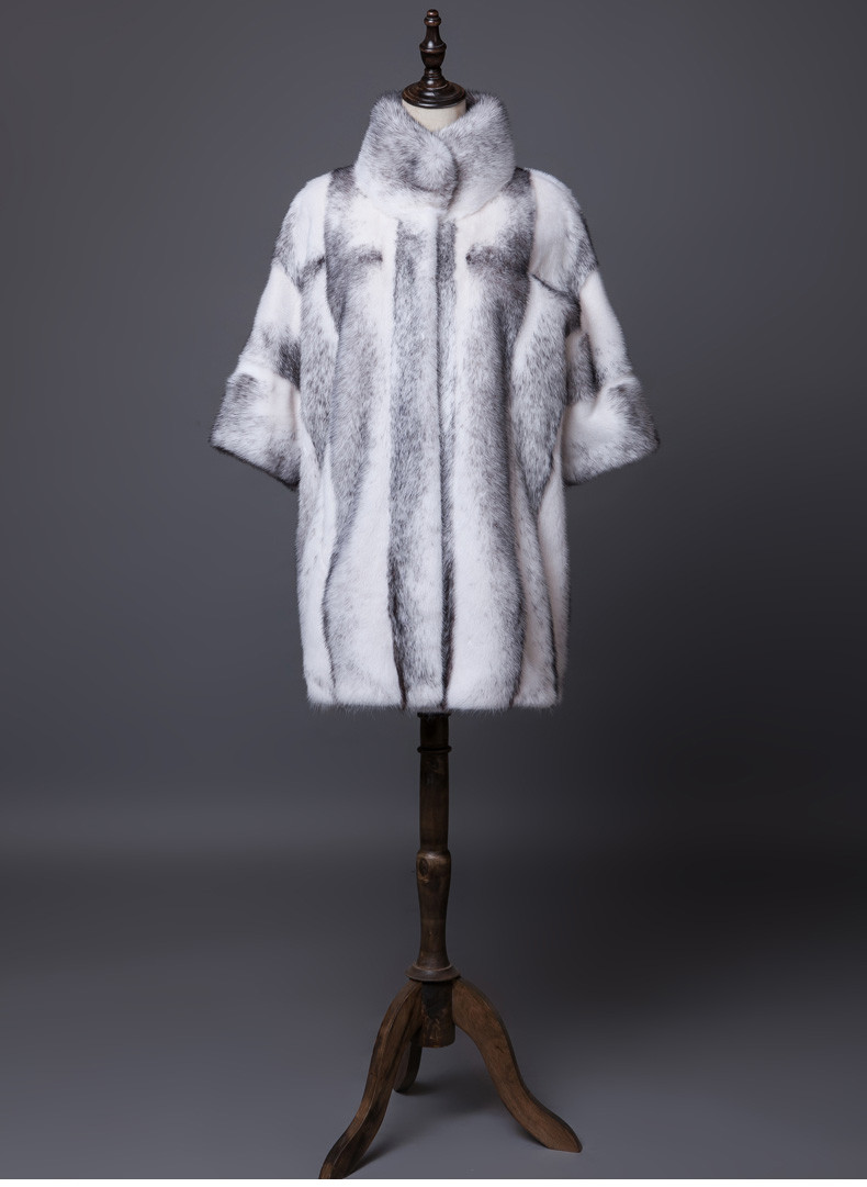 High End Qualited Cross Saga MInk Fur Coat