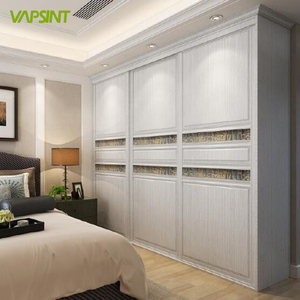 African style white wood grain wardrobe furniture