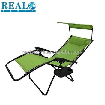 Outdoor Backrest Beach Camping Chair Reclining Beach Chair With Footrest  Beach Foldable Chair