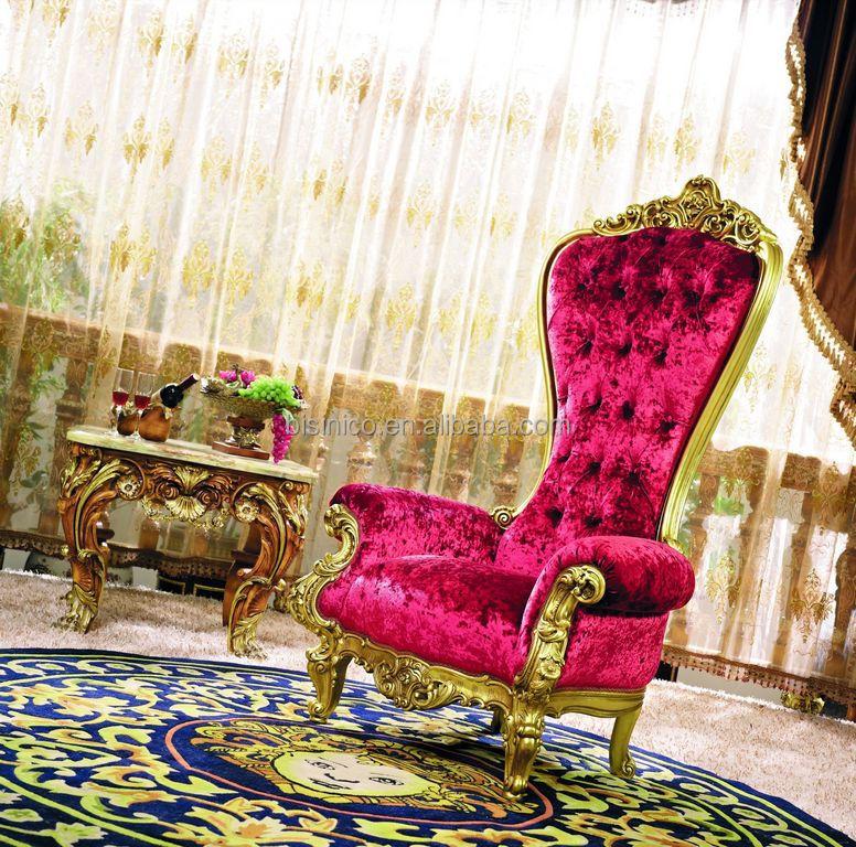 lujo estilo francs muebles de sala giltwood alta volver rosa sillnestilo luis xv tallada