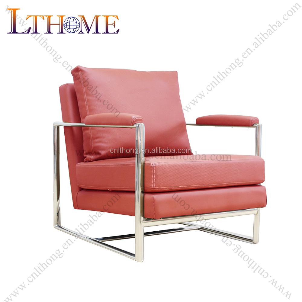 Venta al por mayor marco de metal silla de cuero-Compre online los ...