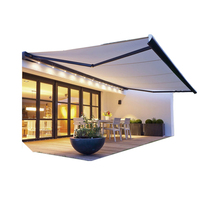 6x4 6x5 8x5 meters Metal Frame Retractable Awnings For Outdoor