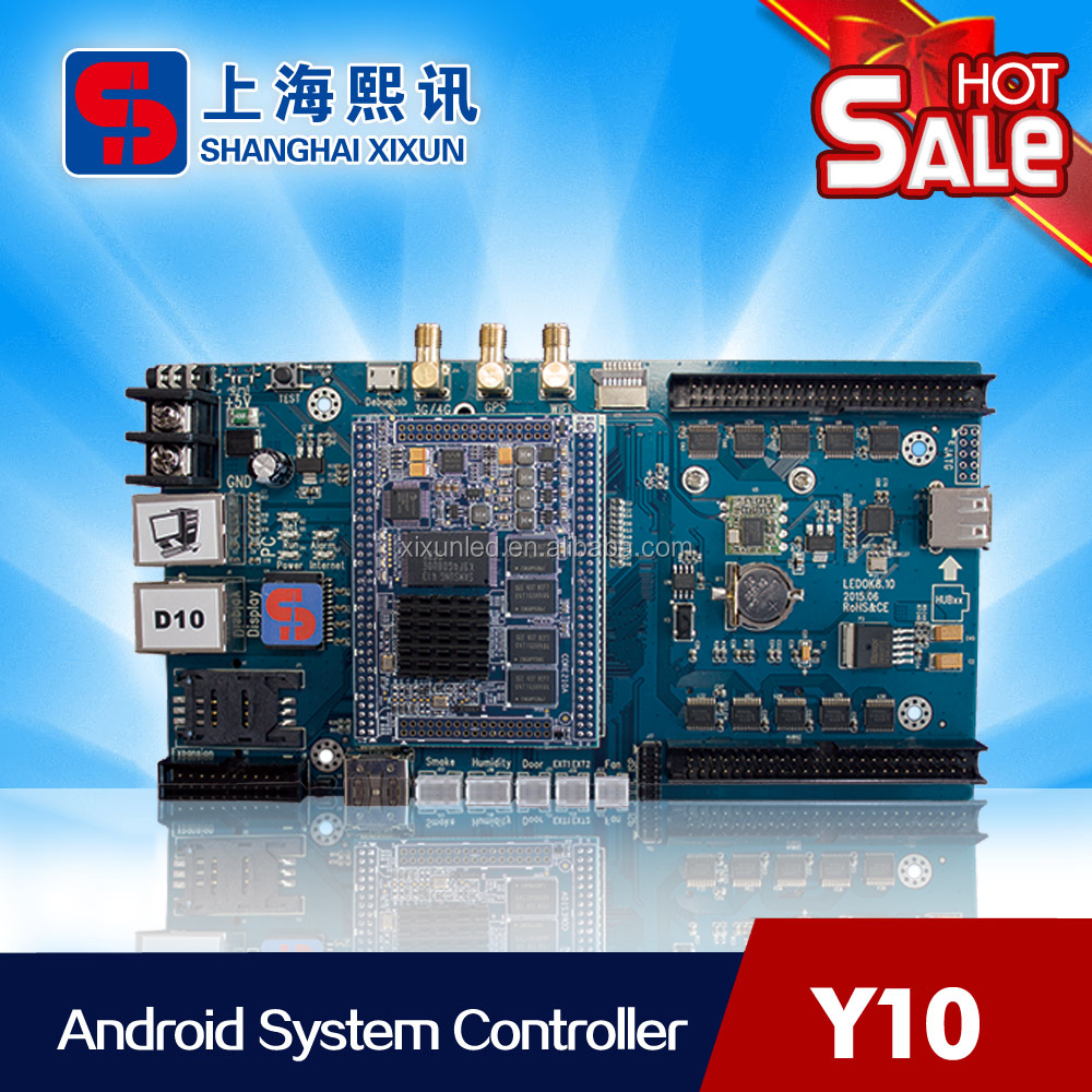 4G/WIFI Outdoor Full Color LED Display Control Card System Xixun Y10 RoHS Certificate