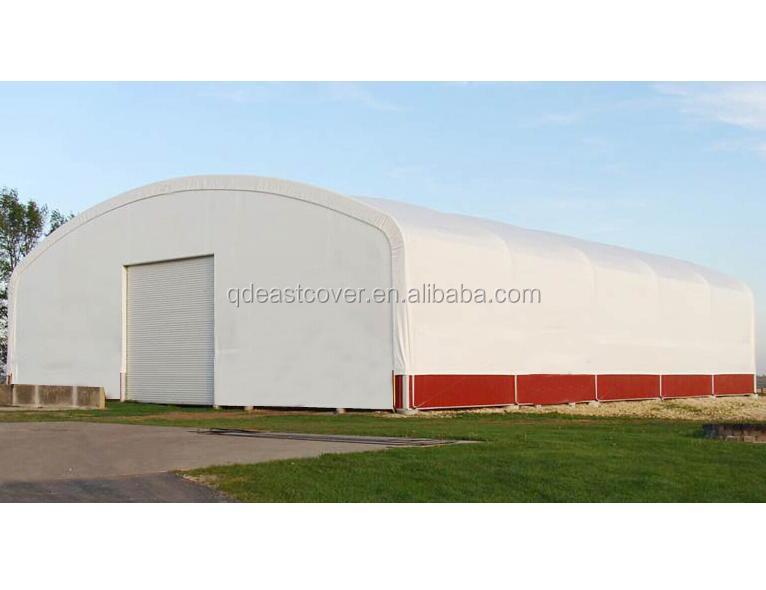 Большой открытый двойной фермы арки здание структуры хранения
