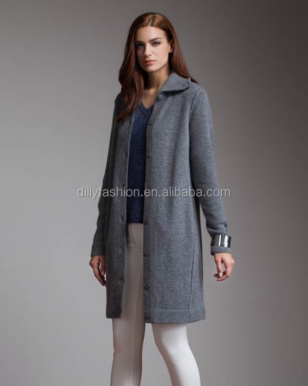 Knitting Pattern Women Winter Long Cashmere Sweater Coats - Buy ...