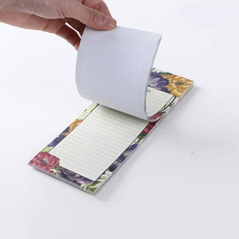 Hot sale Top Selling Convenient No Cover Home Shopping List Cheap Magnetic Notepad