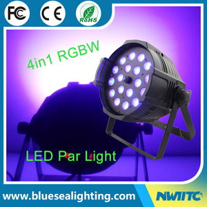 China 18x10w rgbw 4in1 led wash par can lights zoom