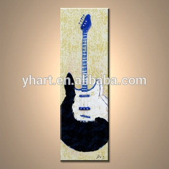 Music Instruments Abstraction Guitar Wall Art Painting For Home Decoration  On Canvas