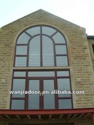 High Quality Aluminum Fixed Window Arch Design