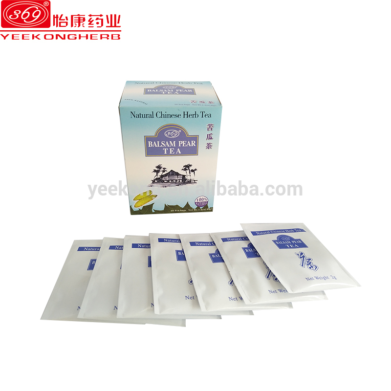 Natural herbal teabag Chinese healthy herbal Balsam Pear tea powder cool fever reduce diabetes blood sugar bitter melon