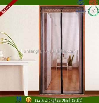 New Magnetic Mesh Screen Door Off Insect Curtain Hands Free Mesh Magnets  For Pets STOP