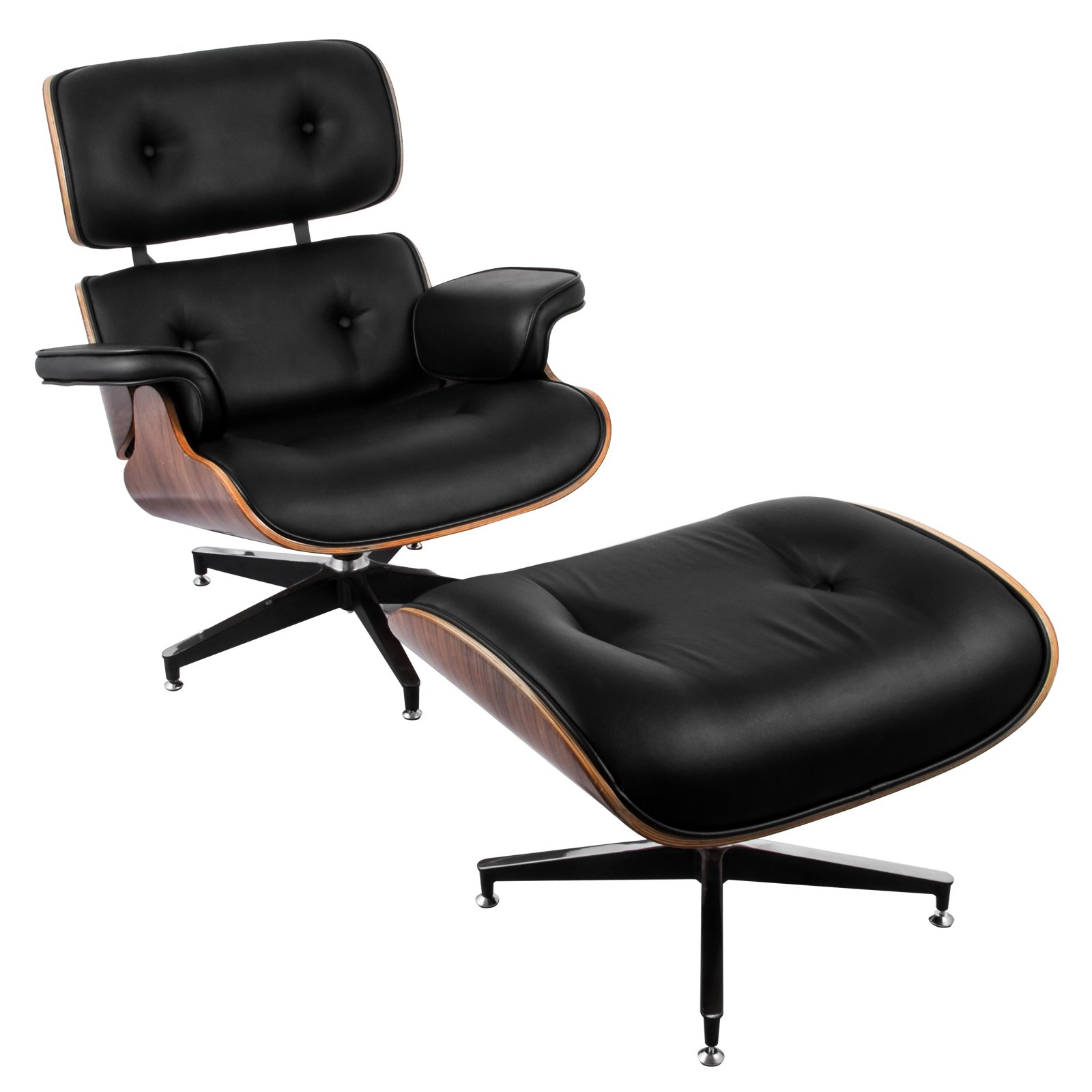 Tremendous Buy Vevor Lounge Chair And Ottoman Mid Century Modern Andrewgaddart Wooden Chair Designs For Living Room Andrewgaddartcom
