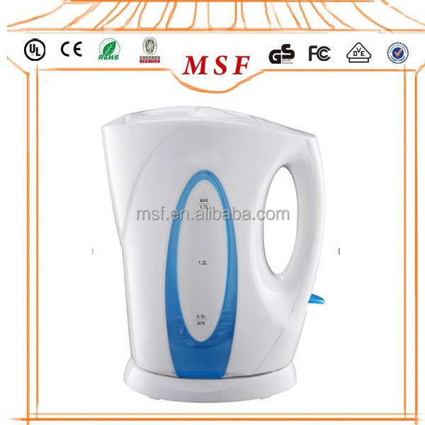 Immersed cordless plastic electric kettle 1.7 Liter Home appliance