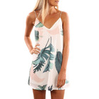 Womens Summer Print Beach Boho Straps Short Lady Dress Pakistani Sharara Dress